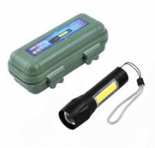 Светодиодный LED фонарик с фокусировкой и с зарядкой XPE+COB