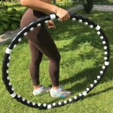 Массажный обруч-хулахуп Massaging Hoop Exerciser / С магнитными вставками – фото 1