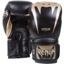 Перчатки боксерские Venum Giant 3.0 Black/Gold Nappa Leather