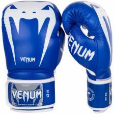 Перчатки боксерские Venum Giant 3.0 Blue/White Nappa Leather