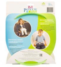 Potette Plus Дорожный складной горшок + 1 одноразовый пакет, зеленый/голубой (ДМ) – фото 4