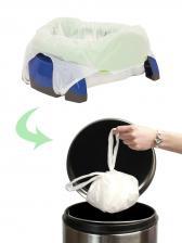 Potette Plus Дорожный складной горшок + 3 одноразовых пакета, зеленый/голубой – фото 3