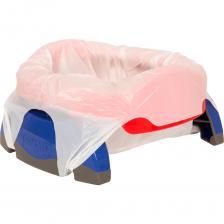Дорожный горшок Potette Plus + 1 одноразовый пакет, красный/голубой – фото 3