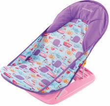 Summer Infant Лежак с подголовником для купания Deluxe Baby Bather, киты/розовый