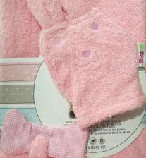 Лежак Minene Лежачок для купания Unique Baby Bath Плюшевый щенок, розовый, 42x25x15см – фото 1