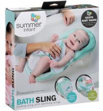 Лежак Summer Infant Лежачок для купания Bath Sling, голубой/рыбки – фото 1