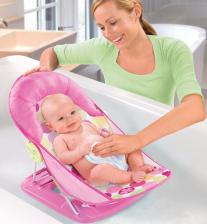 Summer Infant Лежак с подголовником для купания Deluxe Baby Bather, розовый – фото 3