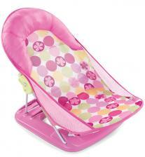 Summer Infant Лежак с подголовником для купания Deluxe Baby Bather, розовый