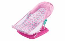 Summer Infant Лежак с подголовником для купания Deluxe Baby Bather, розовый/волны