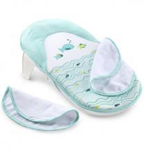 Лежак Summer Infant Лежачок для купания Bath Sling, голубой/рыбки