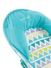 Summer Infant Лежак с подголовником для купания Deluxe Baby Bather, голубой/зигзаг – фото 1