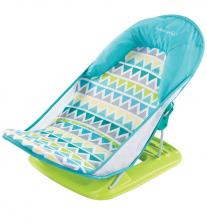 Summer Infant Лежак с подголовником для купания Deluxe Baby Bather, голубой/зигзаг