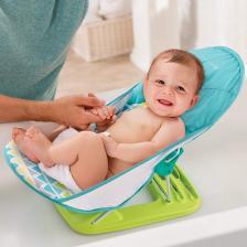 Summer Infant Лежак с подголовником для купания Deluxe Baby Bather, голубой/зигзаг – фото 3