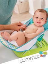 Summer Infant Лежак с подголовником для купания Deluxe Baby Bather, голубой/зигзаг – фото 4