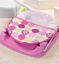 Summer Infant Лежак с подголовником для купания Deluxe Baby Bather, розовый – фото 2