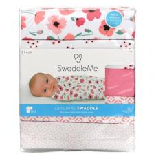 Summer Infant SwaddleMe, Original Swaddle, Small Medium, 0-3 Months, Floral, 5 Pack