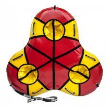 Тюбинг Трио тройной красный/желтый – фото 1