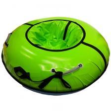 Тюбинг с пластиковым дном Профи зелёный
