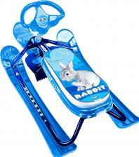 Снегокат Nika Кросс Кролик, синий каркас