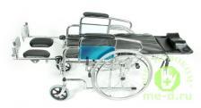 Кресло-коляска механическая стальная FS954GC – фото 1