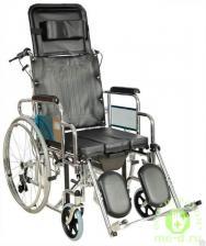 Кресло-коляска с туалетным устройством FS204BJG (MK-C010-46 с ручным тормозом)/(MK-C011- 46 без ручного тормоза)