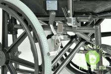 Кресло-коляска механическая стальная FS951B-56 – фото 3