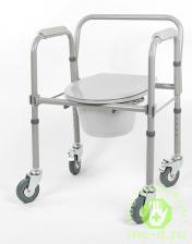 Кресло-туалет складной на колесах 10581Ca – фото 1