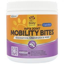 Zesty Paws Mobility Bites для собак поддержка бедер и суставов вкус утки 90 мягких жвачек Ztp-00714