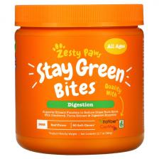 Zesty Paws Stay Green Bites For Dogs Digestion All Ages Beef Flavor 90 Soft Chews Ztp-00897