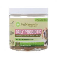 Pet Naturals of Vermont Ежедневные пробиотики Для собак 70 жевательных таблеток 3 70 унц.(105 г) Pen-00759