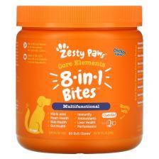 Zesty Paws Multivitamin Bites мультивитаминная добавка для собак 8 в 1 для повышения тонуса для любого возраста со вкусом курицы 90 мягких жевательных таблеток Ztp-00750