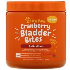 Zesty Paws Cranberry Bladder Bites добавка для собак с ароматизатором «Бекон» 90 мягких жевательных таблеток Ztp-00842