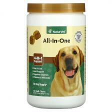NaturVet All-In-One 4-In-1 Support For Dogs 120 Soft Chews 16.9 oz (480 g) Vet-03817