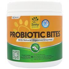 Zesty Paws Probiotic Bites для собак с натуральными пищеварительными ферментами со вкусом дыни 90 мягких жвачек Ztp-00708