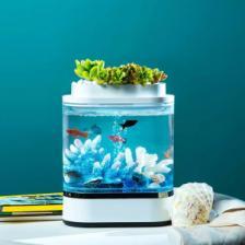 Аквариум Xiaomi Geometry Mini Lazy Fish Tank Pro 1.5L White (C300) – фото 1