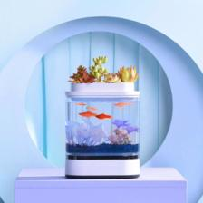 Аквариум Xiaomi Geometry Mini Lazy Fish Tank Pro 1.5L White (C300) – фото 4