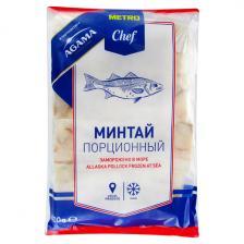 Порционное филе минтая Metro Chef АГАМА замороженное 800 гр