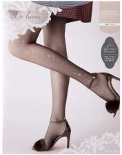 ATSUGI Je l'aime for Elegance Женские колготки с кристаллами Swarovski, размер M-L, цвет черный