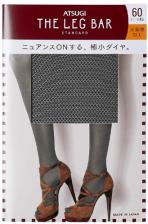 ATSUGI The Leg BAR Standard Женские колготки с мини-алмазным узором 60 DEN, цвет черный, размер M-L
