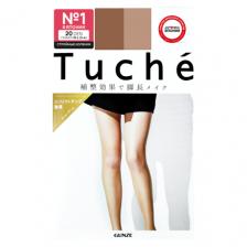 Колготки японские женские нюдовый беж (20 Den M-L 3-4) эффект cтройных коленок Tuche, Gunze 1 пара