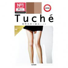 Колготки японские женские натуральный беж (20 Den S-M 2-3) эффект cтройных коленок Tuche, Gunze 1 пара