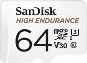 Карта памяти microSDXC 64 Гб Class 10 High Endurance SanDisk SDSQQNR-064G-GN6IA