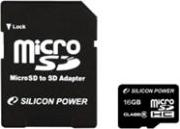 Карта памяти microSDHC 16 Гб Class 4 Silicon Power SP016GBSTH004V10-SP