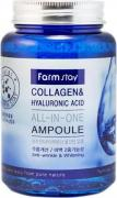 Сыворотка Farm Stay Collagen amp Hyaluronic Acid AllinOne Ampoule