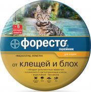 Bayer Ошейник для кошек ФОРЕСТО от клещей, блох и вшей, защита 8 месяцев