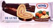 Kovis Рулет бисквитный De Luxe Шоколадно-ореховый 200г (упаковка 6 шт.)