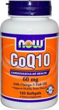 Now Foods NOW CoQ10 60 мг with Omega-3 120 капс (NOW)