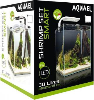 Aquael Аквариум SHRIMP SET SMART LED PLANT ll 30 черный (30 л)